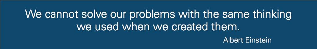 Einstein solve problems quote banner
