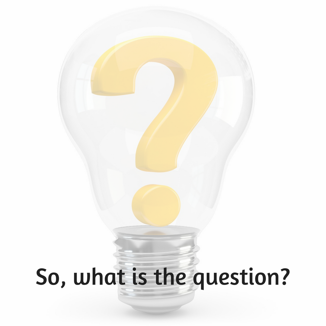 Light bulb with question mark inside